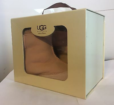 UGG Australia BOO Boots Booties Infant Baby Girl Shearling SUEDE Pink GIFT BOX