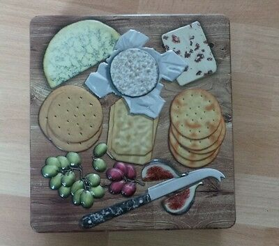 Embossed Cheese Board Selection  Tin.  New & Collectable With Savoury. Crackers
