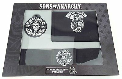 Sons of Anarchy Gift Set - Wallet, Belt & Keyring SOA Christmas Gift Free Post