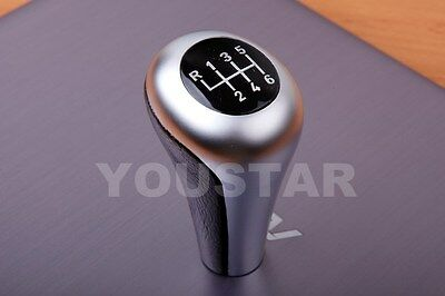 US STOCK Brand New LEATHER 6 Speed Manual Gear Shift Knob for BMW 1 3 5 6 SERIES