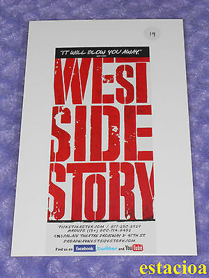 West Side Story Original Broadway Flyer, NEW, Palace Theatre
