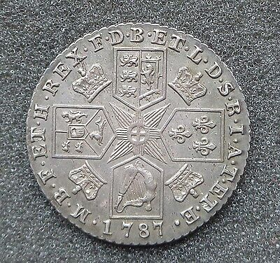 1787 George III - Shilling No Hearts Unc or very near so