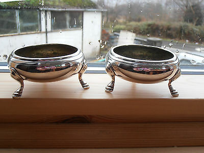 Victorian  Elkington silver plate pair of salt pots 1878