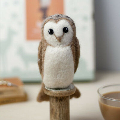 Needle Felting BARN OWL Kit. No experience required - learn as you go!