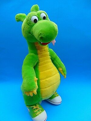 """Dudley the Dragon Plush 14.5"""" Nice w/his Shoes! Adventures of Dudley 94-95"""