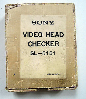 SONY Video Head Checker SL 5151