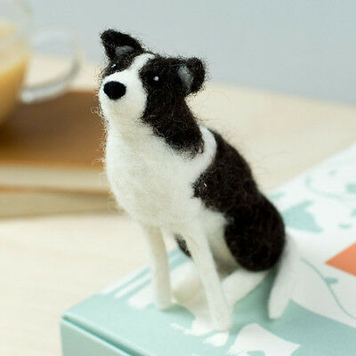 Needle Felting SHEEP DOG COLLIE Kit. No experience required - learn as you go!