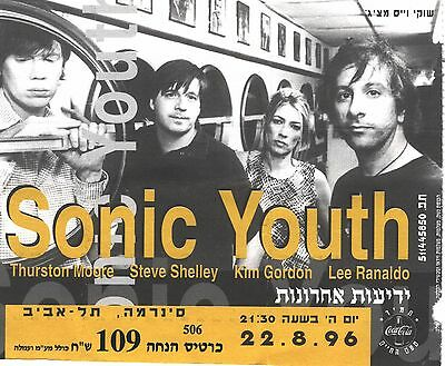 SONIC YOUTH Ticket, Israel 1996