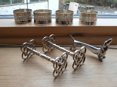 Vintage lot of Silver plated Napkin Rings & knife rests