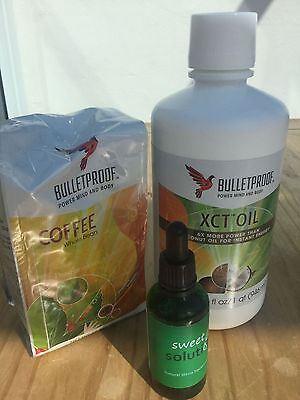 Bulletproof Diet Bundle: Bulletproof Coffee 340g & MCT Oil 473ml, Stevia 50ml