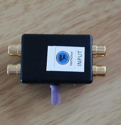 AAS40ASCRCA 40dB Adjustable Stereo attenuator with RCA phono