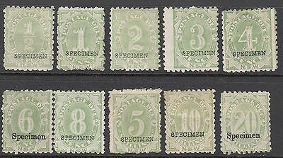 New South Wales - Postage Dues - SG D1-10 MH Specimens