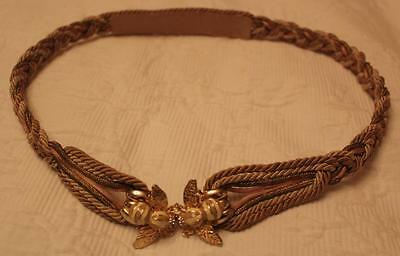 VINTAGE BELT with ENAMEL BEE CLASP - Stunning!
