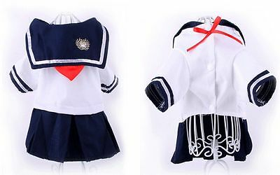 Dog Navy Cotton Jumper Dress Up Costume Chihuahua Pomeranian Pug Shih Tzu