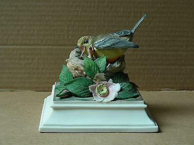 """Boehm """"prothonotary Warblers"""" Porcelain Figurine # 445"""