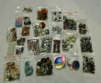 Big Bundle of Beads Assorted Sizes, Shapes, Colours - Glass, Plastic, Metal