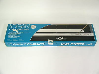 Logan Compact Matcutter Model 301-S W/ STRAIGHT & BEVELED CUTTING HEADS & BLADES