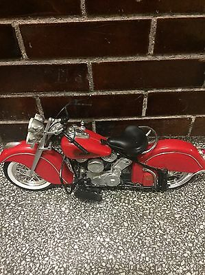 1998 New Ray Indian Chief 1/6 Scale Immi Model Toy Red Motorcycle