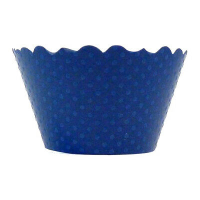 Bella Cupcake Couture Cupcake Wrappers - Swiss Dot - Blue
