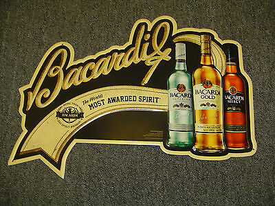 five (5) Bacardi tin signs - New