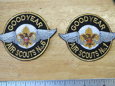 boy scouts BSA ,  AIR SCOUTS  NO.6 , NO.1 , GOOD YEAR , AIR SCOUTS ,  GOOD YEAR