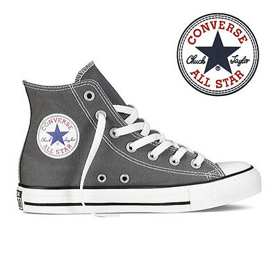 Mens Converse Chuck Taylor All Star High Top Canvas Fashion Sneaker Charcoal NEW