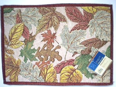 """4 AUTUMN/FALL/THANKSGIVING FOLIAGE TAPESTRY PLACEMATS ~ 18"""" x 13"""""""