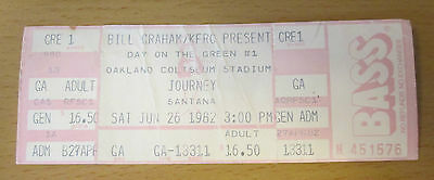 1982 Journey Santana Toto The Tubes Day On The Green Oakland Concert Ticket Stub