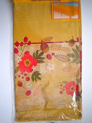"""AUTUMN/FALL/THANKSGIVING FLORAL PLASTIC TABLE COVER ~ 108"""" x 54"""""""