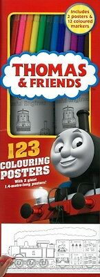 Thomas And Friends Colouring Posters 123 kit  trackable freepost australia'