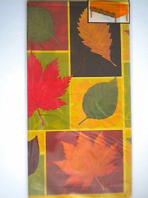 """AUTUMN/FALL/THANKSGIVING FOLIAGE PLASTIC TABLE COVER ~ 108"""" x 54"""""""