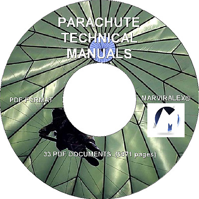 US ARMY - PARACHUTE TECHNICAL MANUALS -33 PDFs - 6871 pgs ON CD