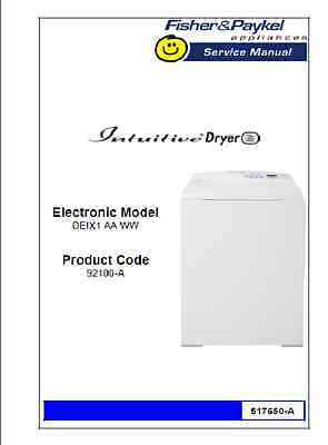 Repair Manual: Fisher & Paykel Washers & Dryers (Choice of 1, see description)