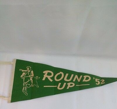 Boy Scouts Round Up Pennant Flag 1952 Green Mountain Council