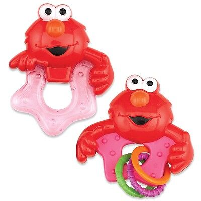 Sesame Street Elmo - Baby Rattle and Teether Set - NEW - Baby Shower