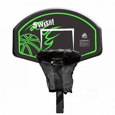 NEW Sturdy Lifespan Swish Trampoline Basketball Ring and Ball, Spring Loaded Rim