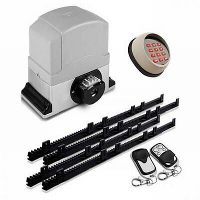 NEW 550W LockMaster Automatic Sliding Security Gate Opener w/ 2 Remote Controls