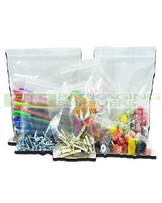 """100 LARGE 10 x 14"""" CLEAR GRIP SEAL GRIPSEAL PLASTIC RESEALABLE BAGS - NEW"""