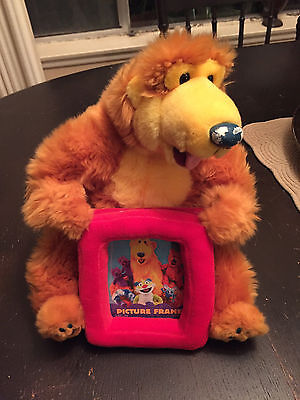 """13"""" Bear In The Big Blue House Plush Photo Frame US SELLER VERY HARD TO FIND"""