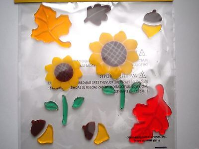 19 Colourful Autumn/fall/thanksgiving Gel Cling Window Decorations
