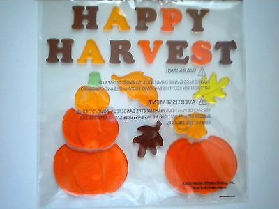 21 Colourful Autumn/fall/thanksgiving Gel Cling Window Decorations