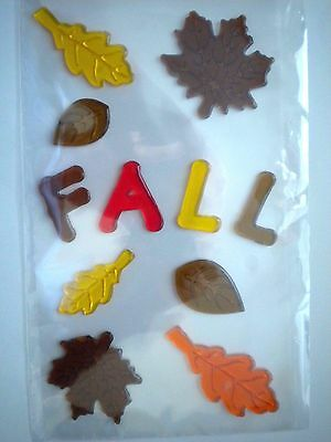 11 Colourful Autumn/fall/thanksgiving Gel Cling Window Decorations