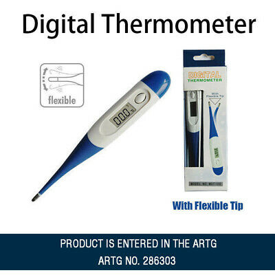LCD Digital Temperature Thermometer Basal Thermometer Flexible Tip and Beeper