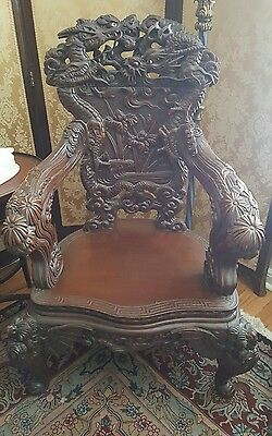 Antique Chinese Chair Handcarved