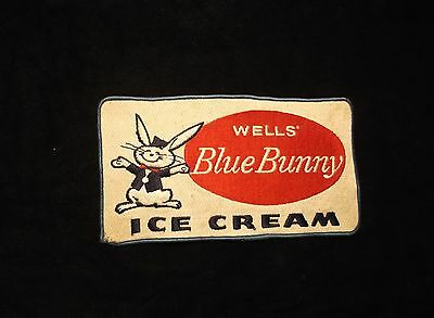 Vintage Advertising Wells Blue Bunny Embroidery Patch