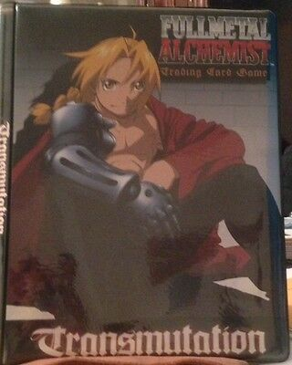 Fullmetal Alchemist Tcg Album With 9 Card Promo Set Tr1-Tr9