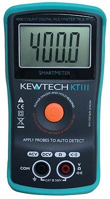 Kewtech KT111 500V AC/DC TRMS Digital Multimeter with AUTO FUNCTION Detection