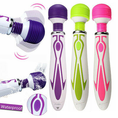 New 60 Speed Electric Magic Wand Massager Full Body Vibrating Battery Operated