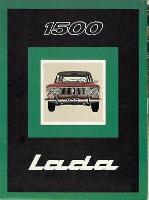 Lada 1500 Saloon Late 1970s Swiss Market Sales Brochure In French