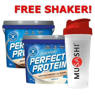 Aussie Bodies Perfect Protein 3Kg Choose Your Flavour Free Shaker Natural Whey